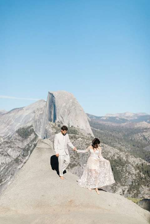 Glacier Point elopement photo