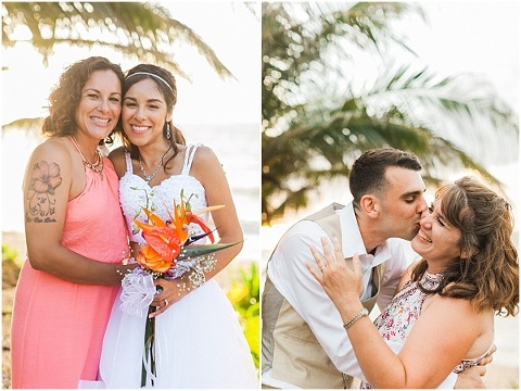 Love from mom at wedding