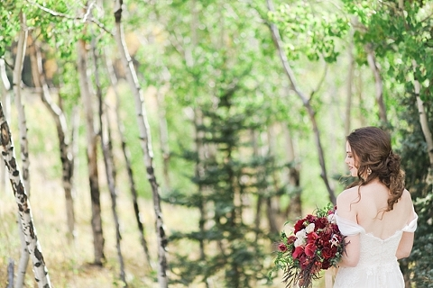 Bride in the Colorado aspens