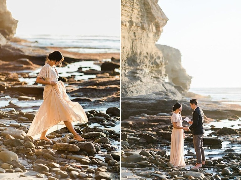 Sunset Cliffs is one of the most gorgeous places to elope in San Diego
