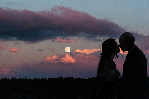 Couple and the moon