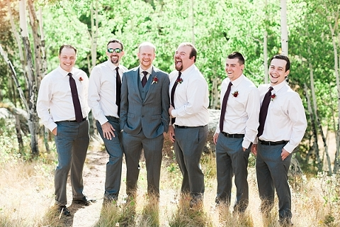 Groomsmen cracking up