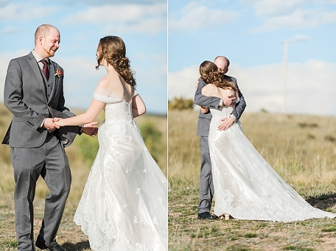 First moments as Husband and Wife