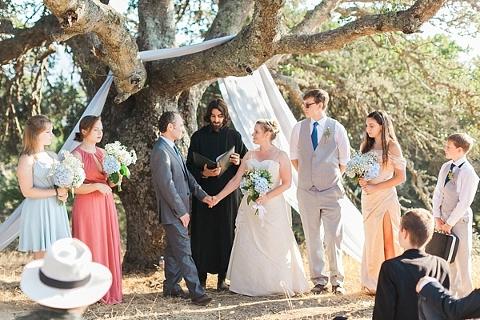 California Wedding Underneath a Tree