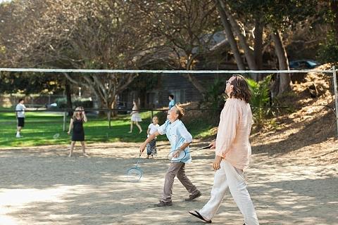 Badminton at wedding