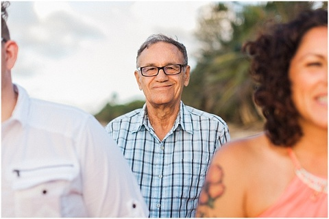 Grandfather smiling at wedding