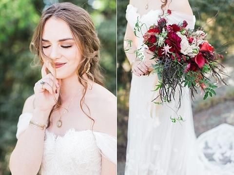 Cascading arm sheaf style bouquet