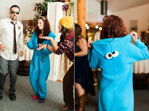 Cookie monster on the dance floor