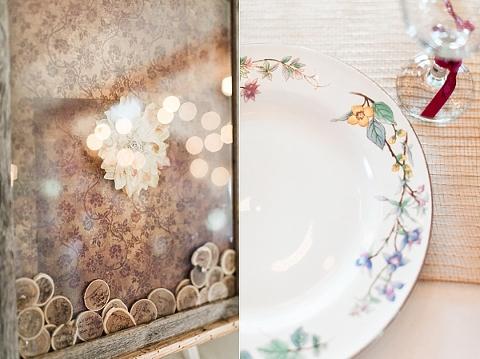 Floral print plates