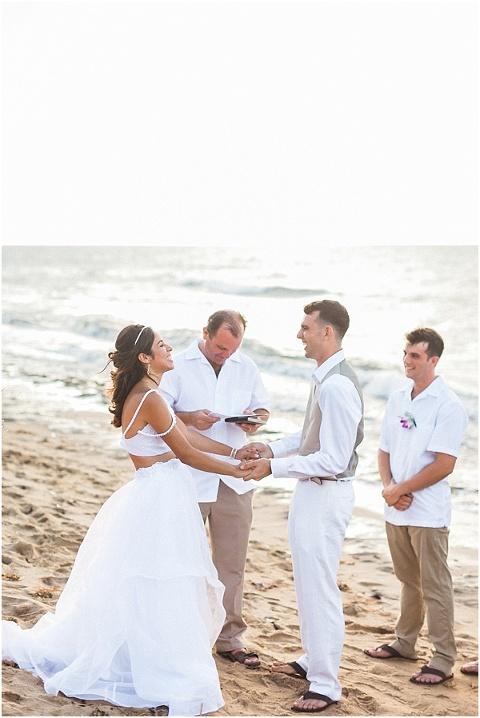Wedding on a beach in Rincon, Puerto Rico