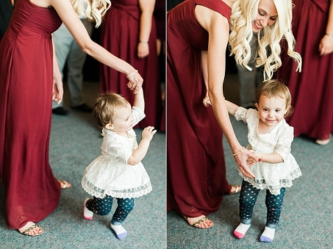 Little one dancing at wedding