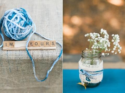 ombre yarn wedding decoration