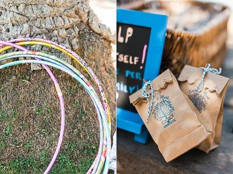 hula hoops at wedding