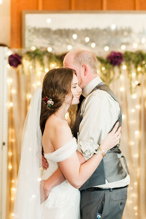 First dance in the twinkle lights
