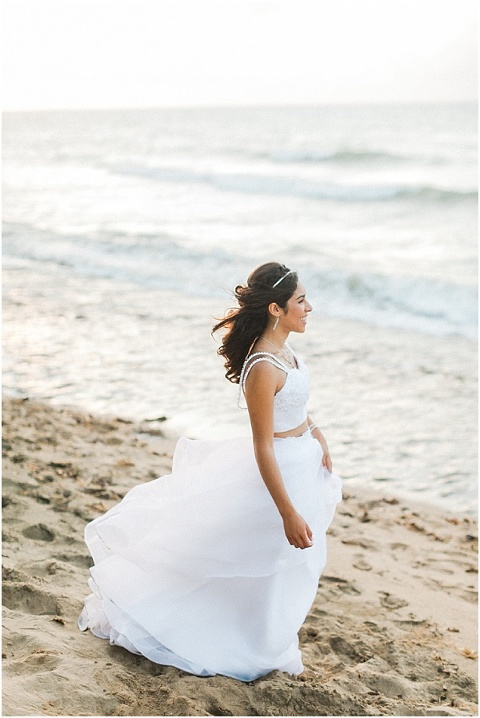Bride at her destination wedding