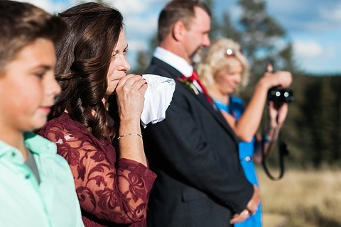 Mother of Bride crying during ceremony