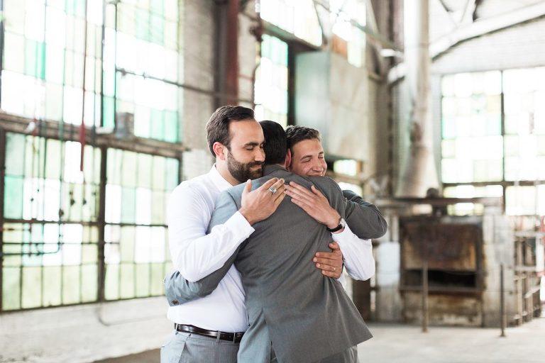 Best Groomsmen Hug