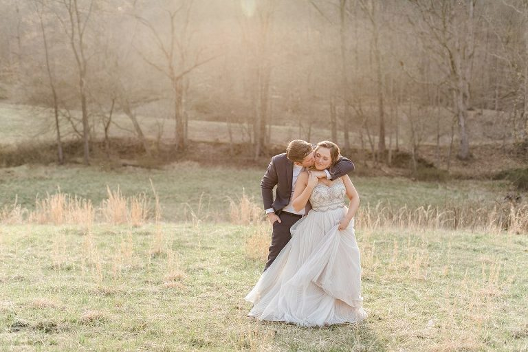 Golden hour at The Wilds Wedding Venue