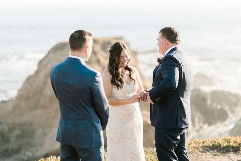 Elopement ceremony in Big Sur
