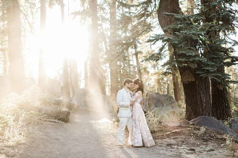 Magical forest during Taft Point hike for elopement photos
