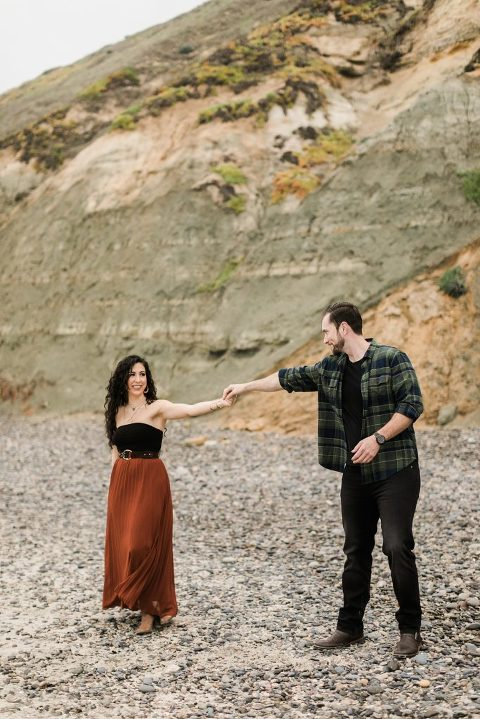 Boho Torrey Pines Engagement Session