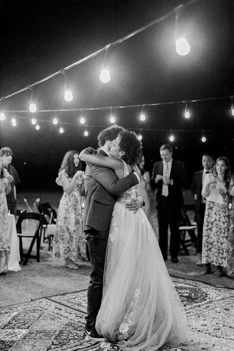 Boho wedding reception at Serenity Rustic Retreat at Mill Creek