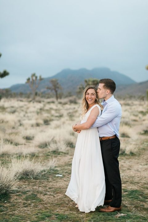 Stormy Joshua Tree Engagement Session