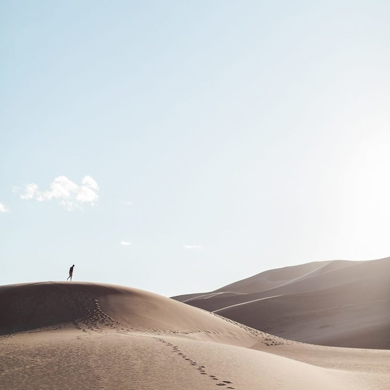 Sand dunes elopement inspiration for list of best places to elope in California
