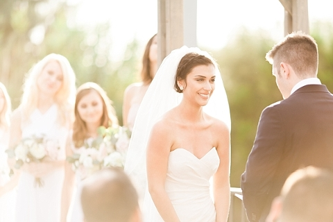 golden hour wedding ceremony