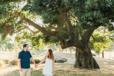 Big California Tree Engagement Photo