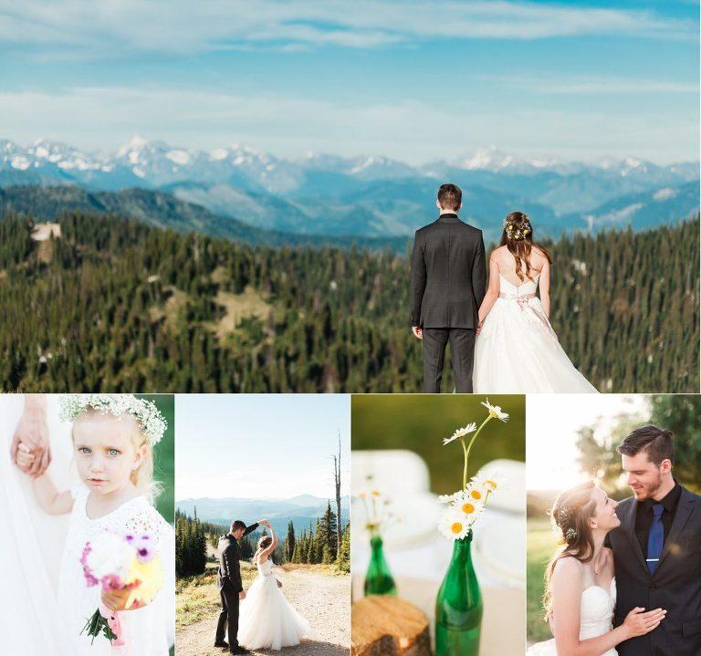 Whitefish Mountain Resort Wedding | Montana Backyard Reception