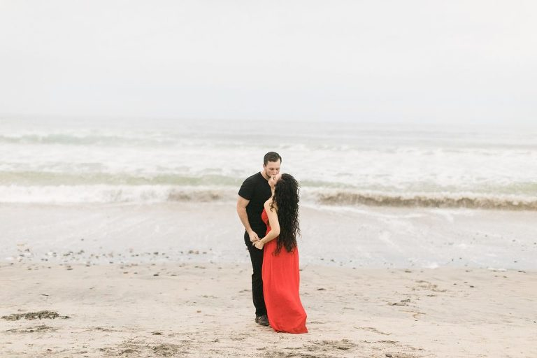 Boho Engagement Session at Torrey Pines State Reserve