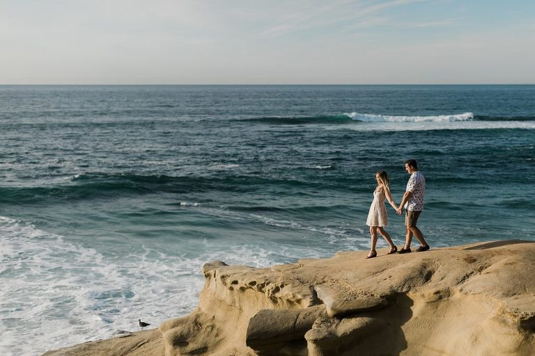 Engagement Session at Wipeout Beach, La Jolla, CA