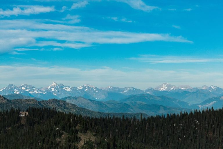 Glacier views from Whitefish Mountain Resort