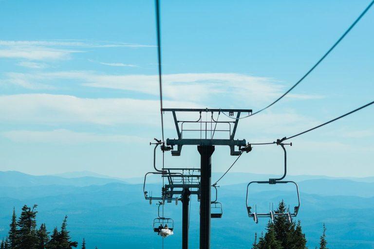 epic ski lift grand entrance