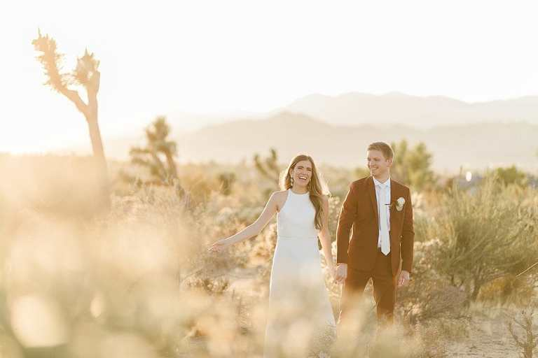 Elopement couple in Joshua Tree National Park