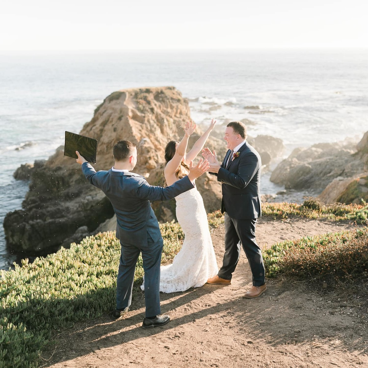 California Elopement Package information and Big Sur elopement photo