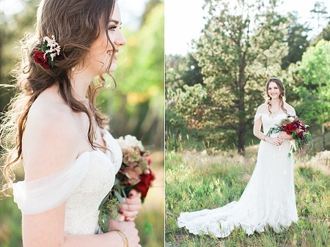 Gorgeous Bride with Off-the-shoulder dress