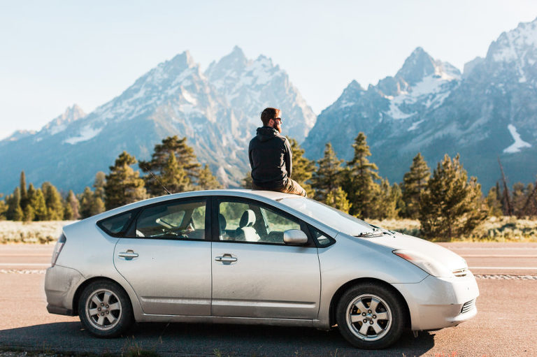 Prius in Grand Teton National Park