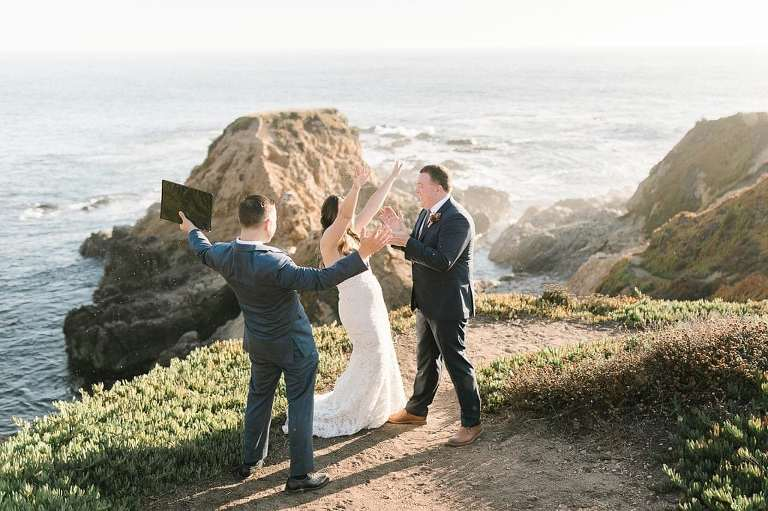 Elopement wedding ceremony in Big Sur with gorgeous views