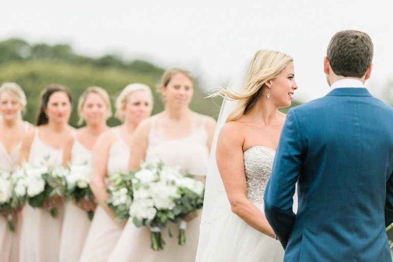 Outdoor Wedding Ceremony at Woods Hole Golf Club