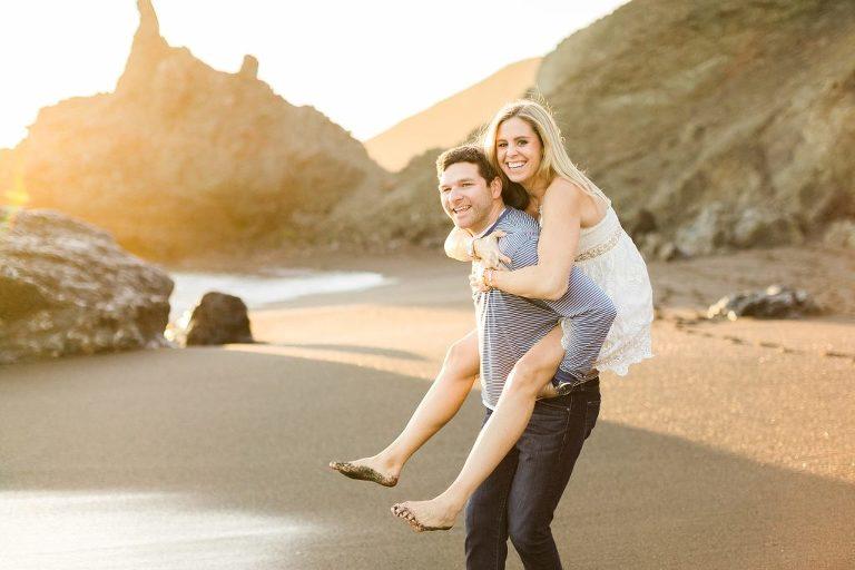 Black Sands Beach Engagement Session