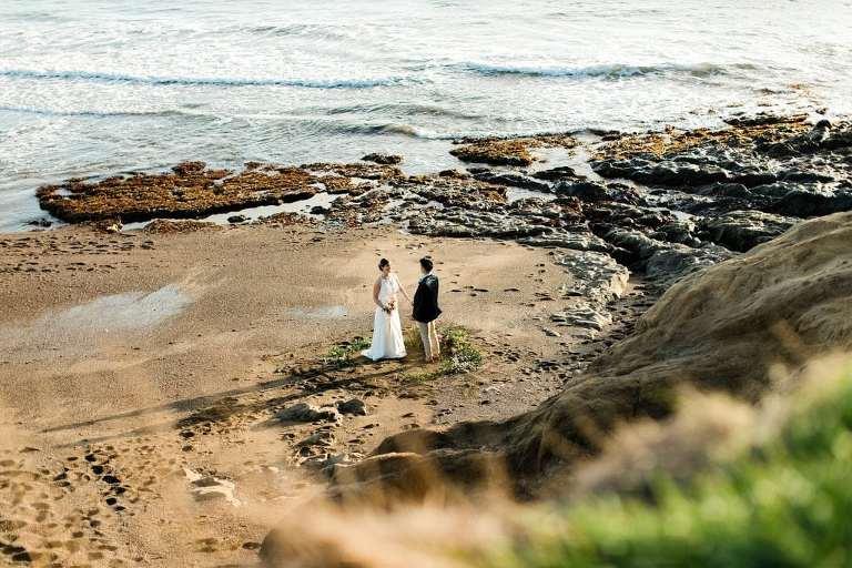 Marin Headlands wedding on the beach