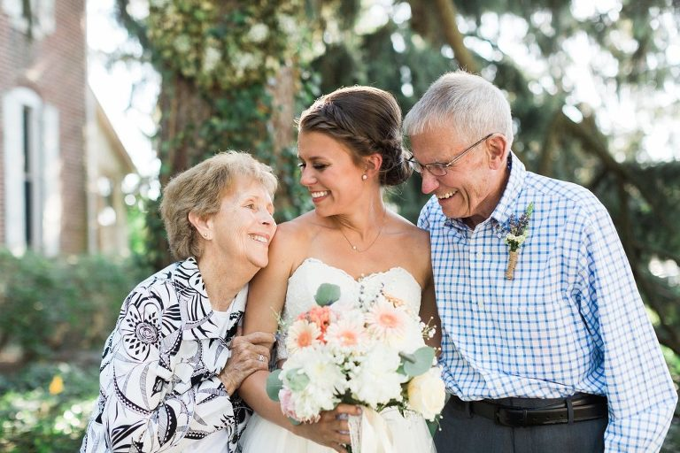 Bride with her Grandparents