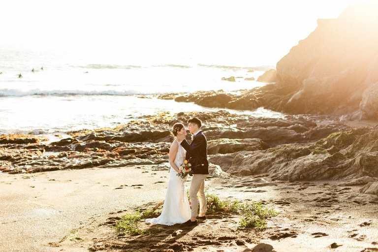 Spring beach wedding