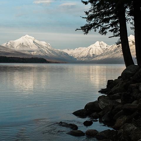 Lake McDonald in winter