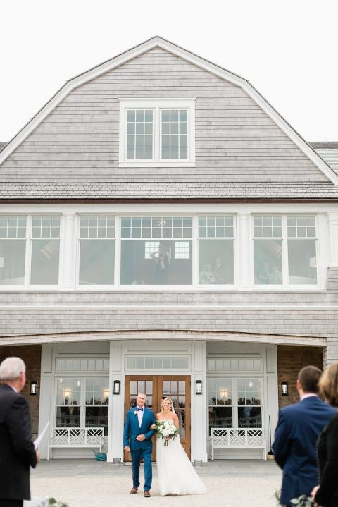 Wedding Ceremony at Woods Hole Golf Club