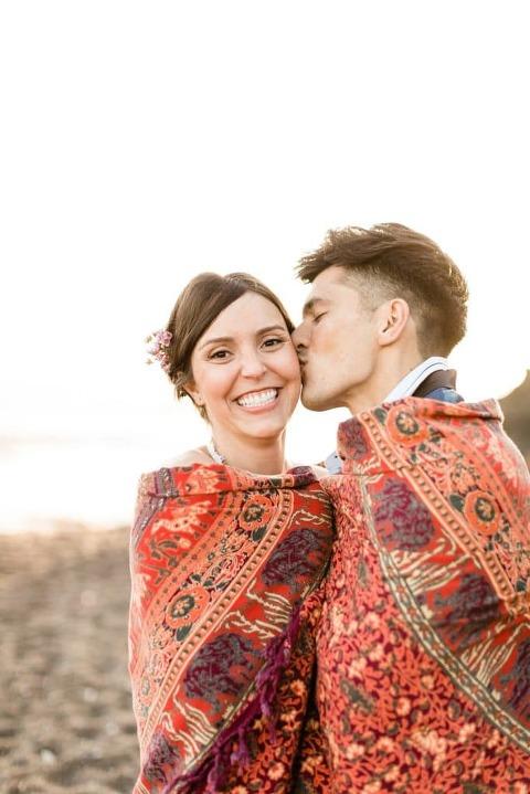 Marin Headlands Wedding at sunset