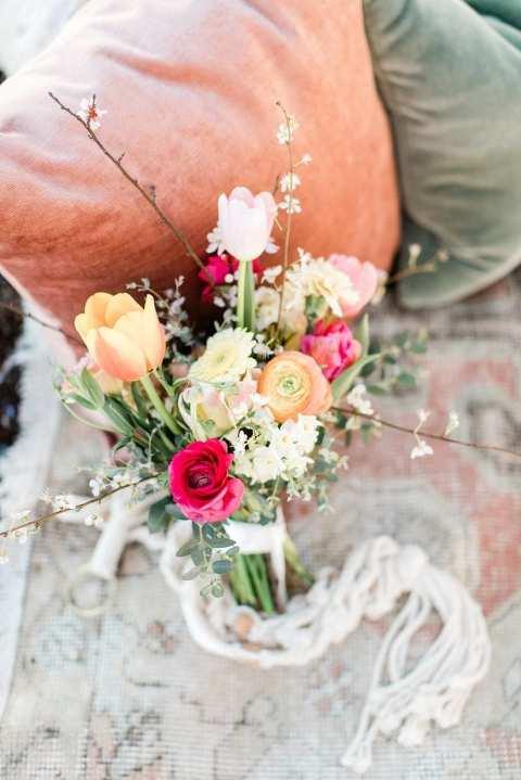 Spring florals beach Marin Headlands wedding