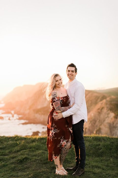 Chimney Rock Trail Engagement Session